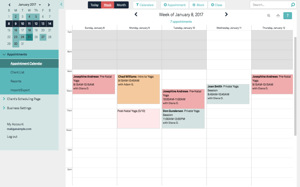 Appointment Scheduling Software - Acuity