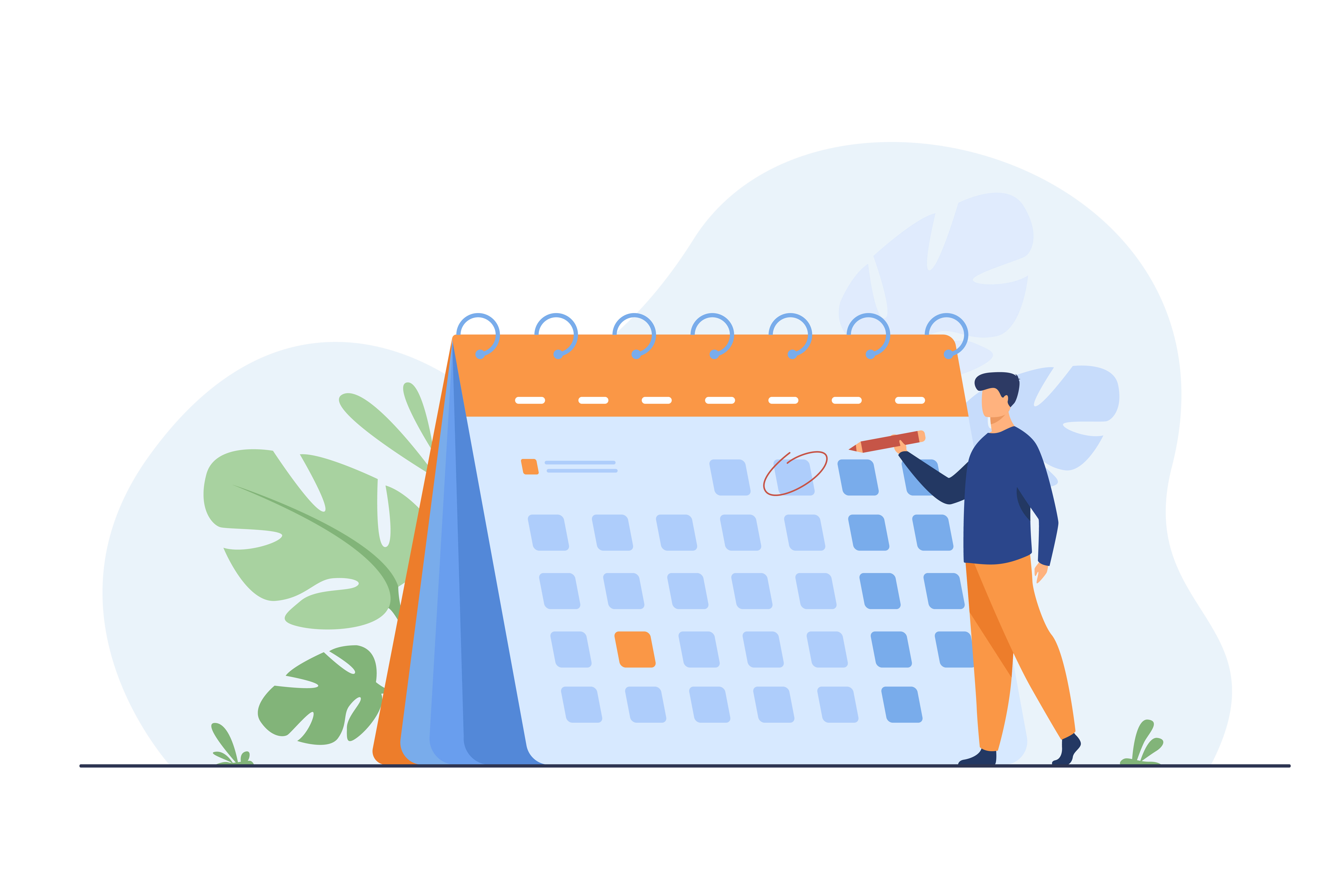 Keeping an up-to-date schedule is essential to remote working