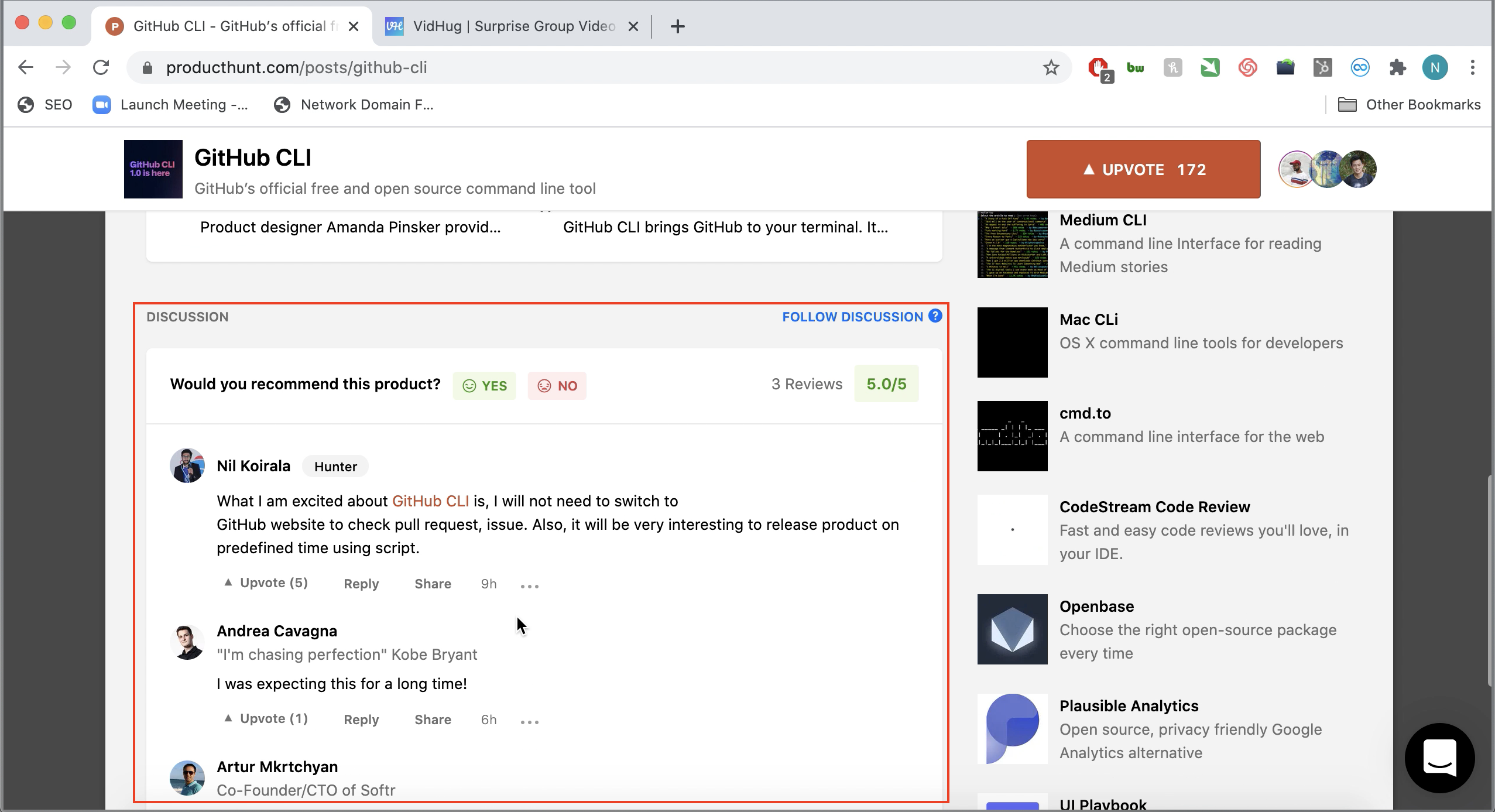 Launching Your Product on Product Hunt - Product Hunt user comments
