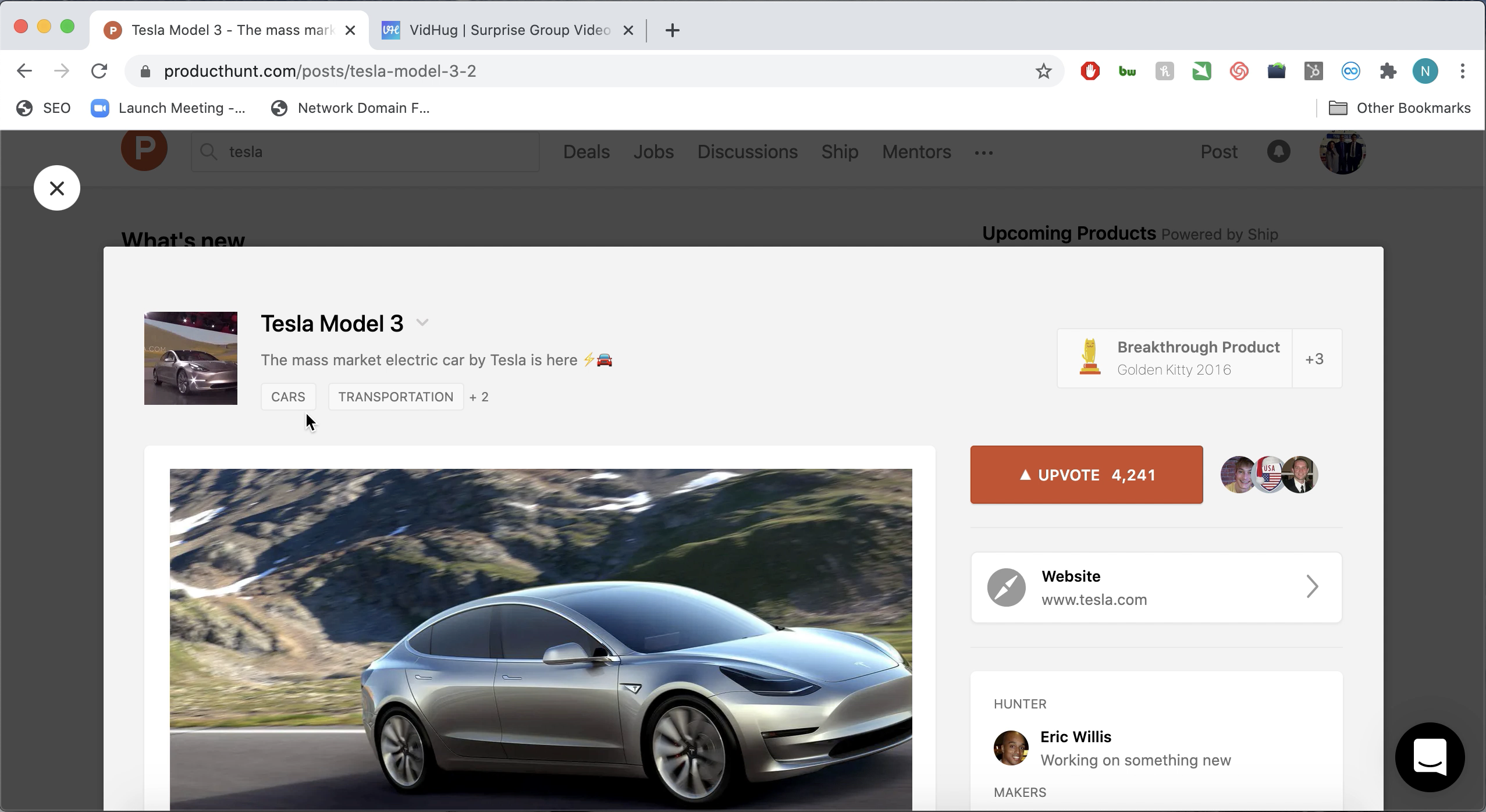 Launching Your Product on Product Hunt - other products on Product Hunt