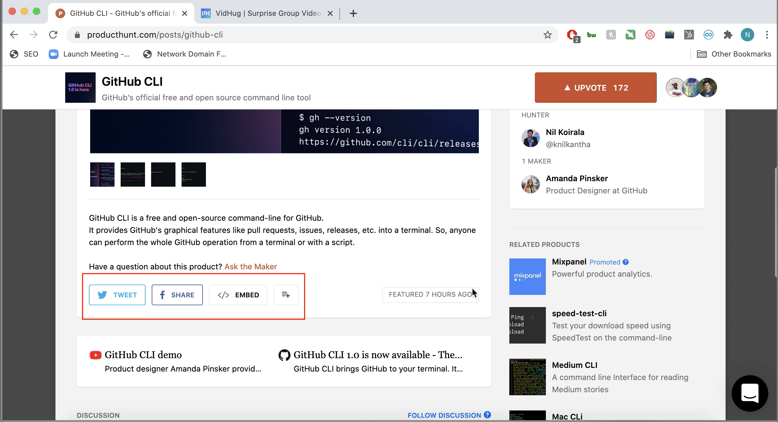 Launching Your Product on Product Hunt - Share your Product Hunt listing on social media