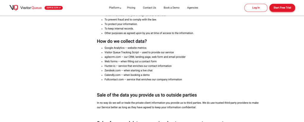 How do we collect data? Discover a company's tech/marketing stack