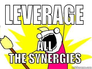 Marketing Jokes - I leverage synergies