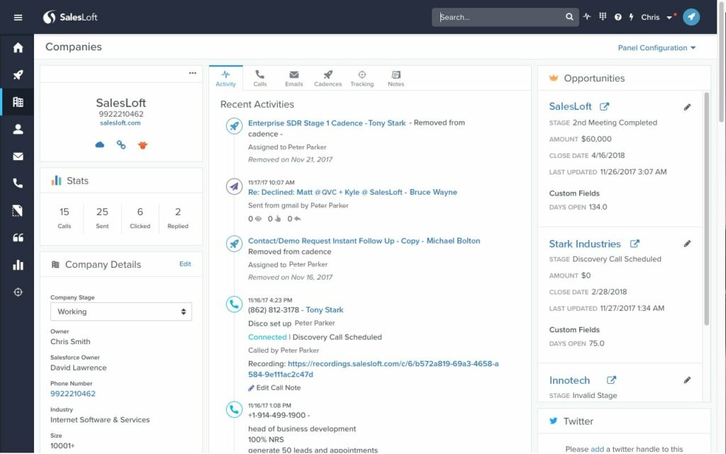 Sales Tools - SalesLoft