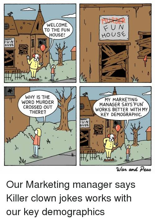 Marketing Jokes - Welcome to the fun house